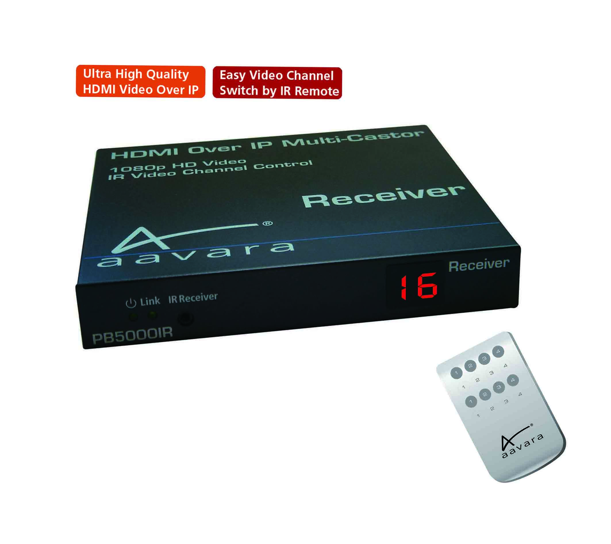 Aavara Professional Av Brand For Hdmi Over Ip Single Ir Remote Control Receiver W